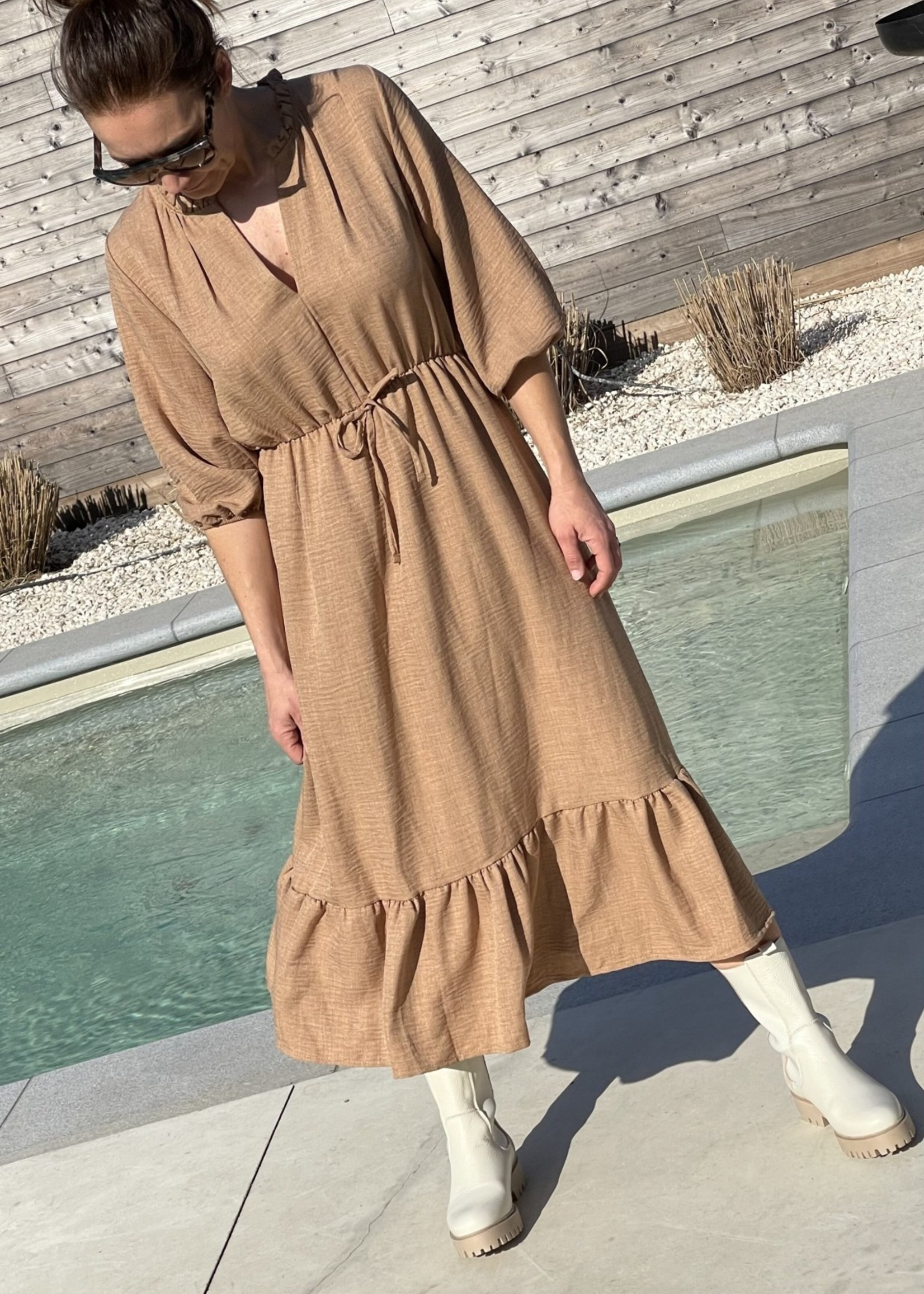 Guts & Goats Valentina Camel Dress
