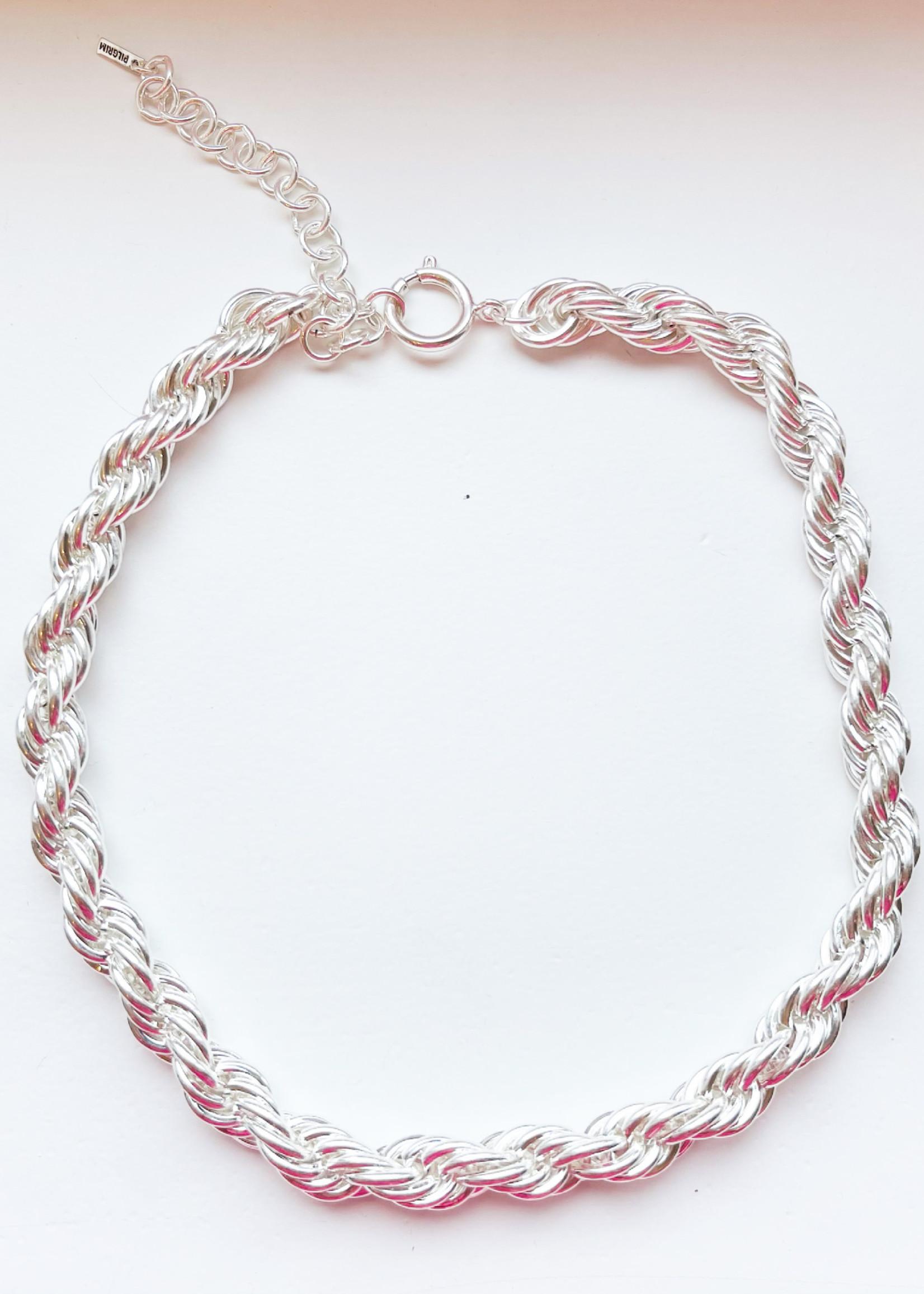 Guts & Goats Pilgrim Torsade Necklace Silver