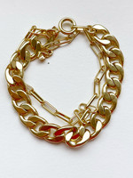 Guts & Goats Pilgrim Bracelet Flat Gold