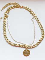 Guts & Goats Pilgrim 2 in a set Necklace Gold