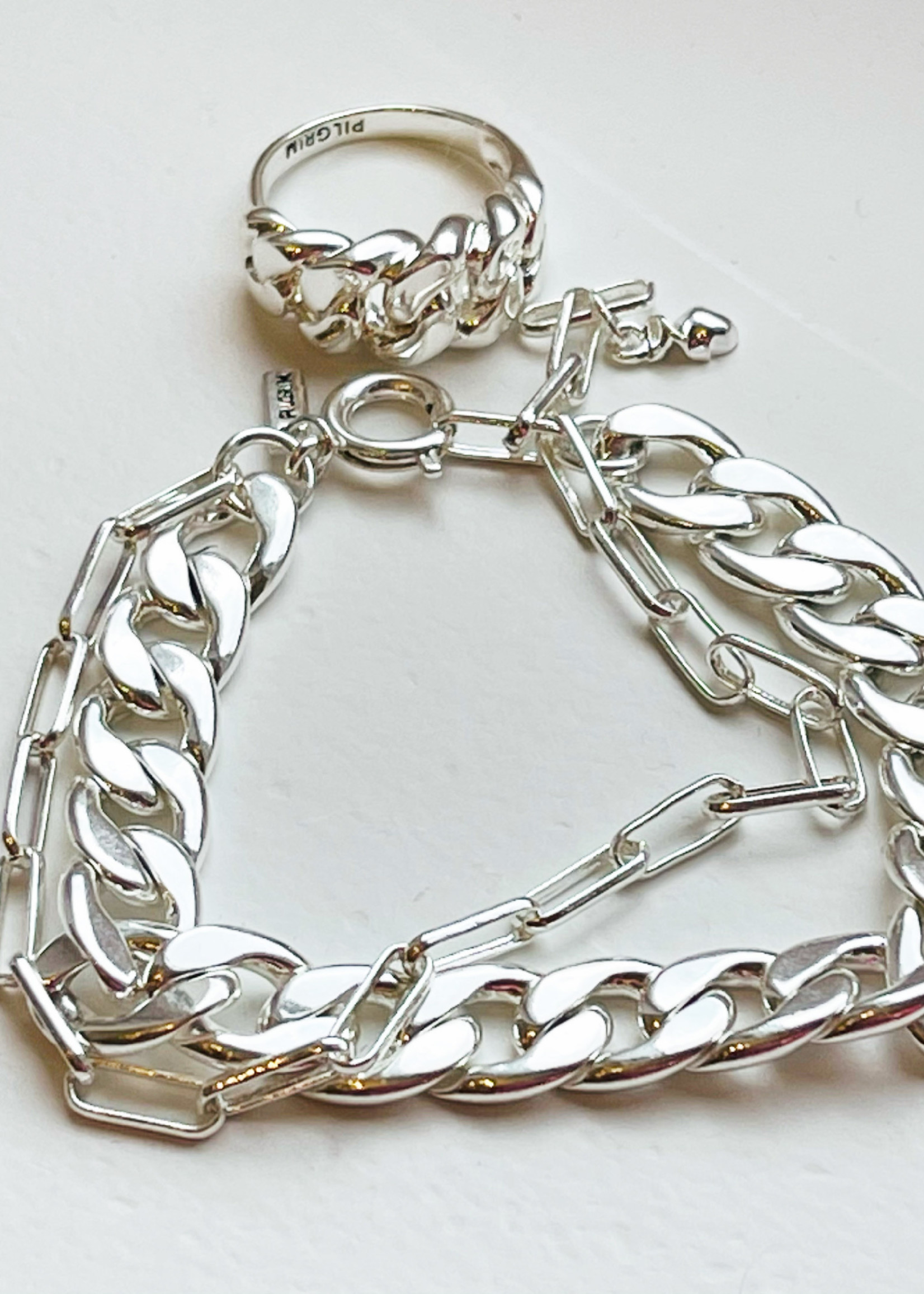 Guts & Goats Pilgrim Bracelet Flat Silver