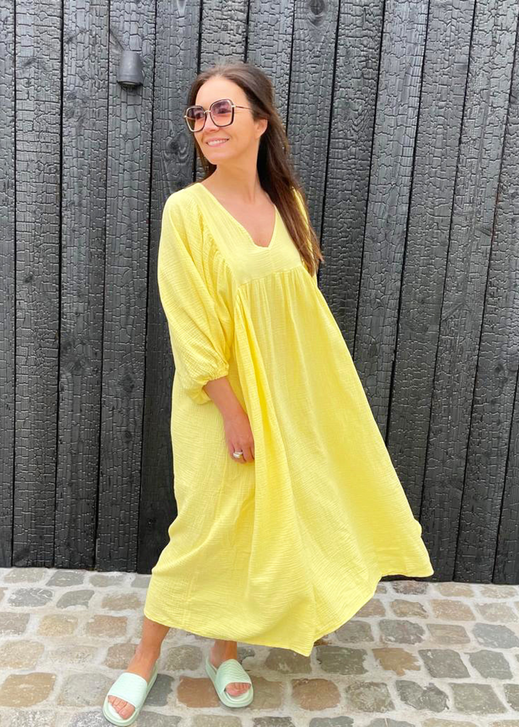 Guts & Goats Louanne Yellow Dress