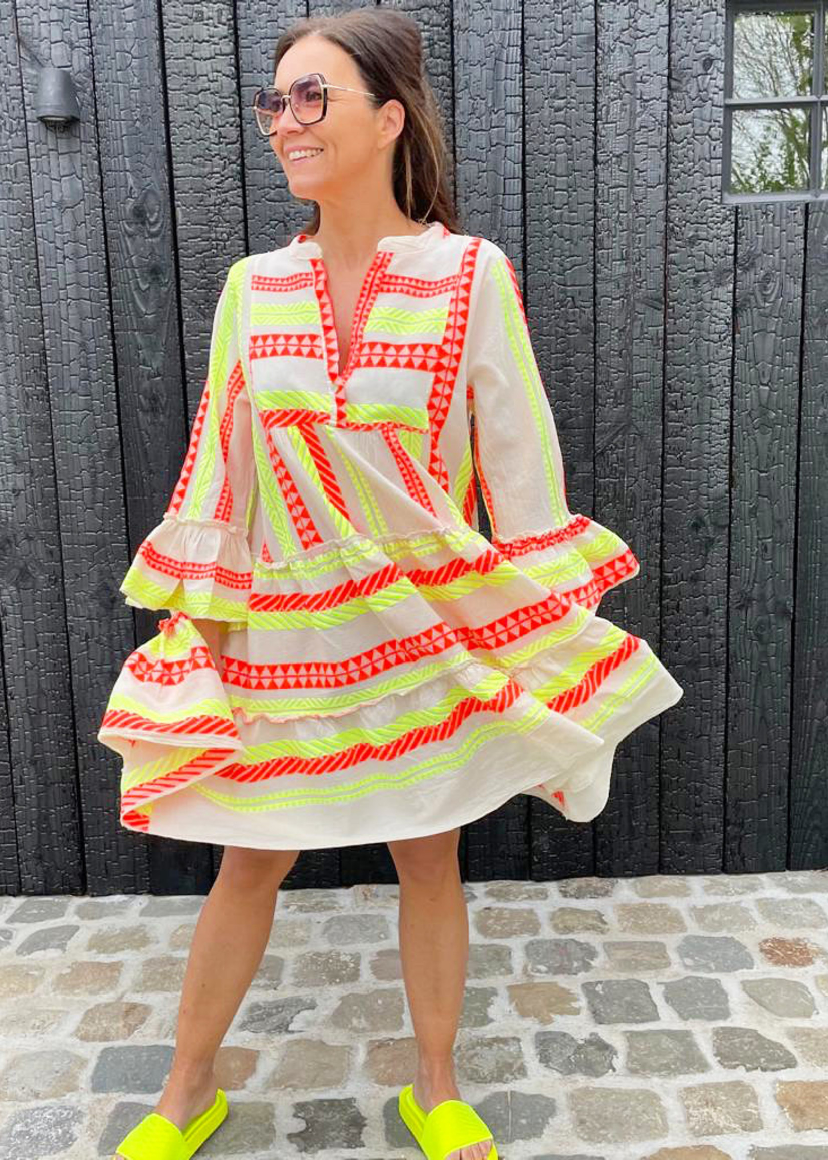 Guts & Goats Greek Yellow Dress