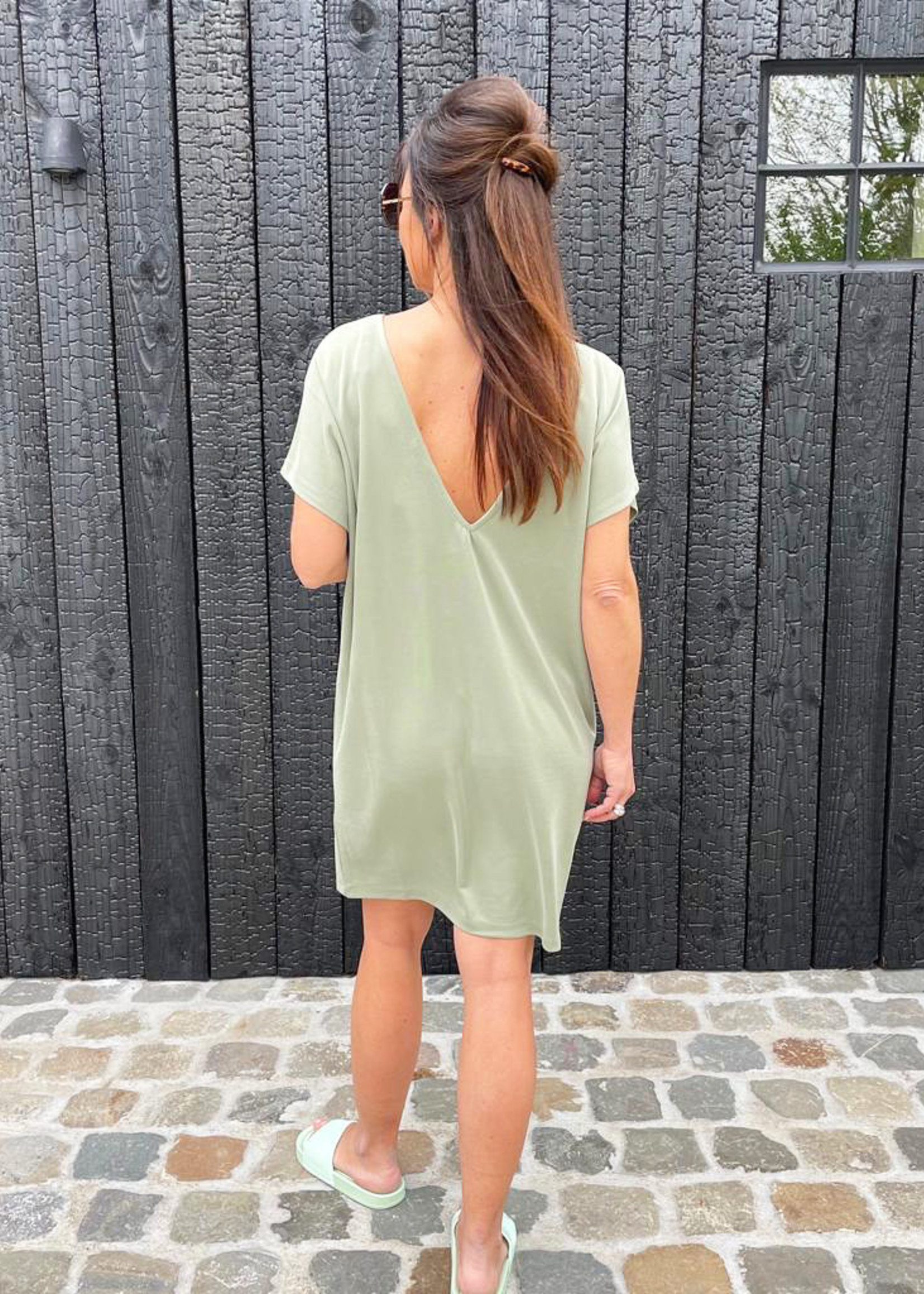Guts & Goats Emily Olive Dress