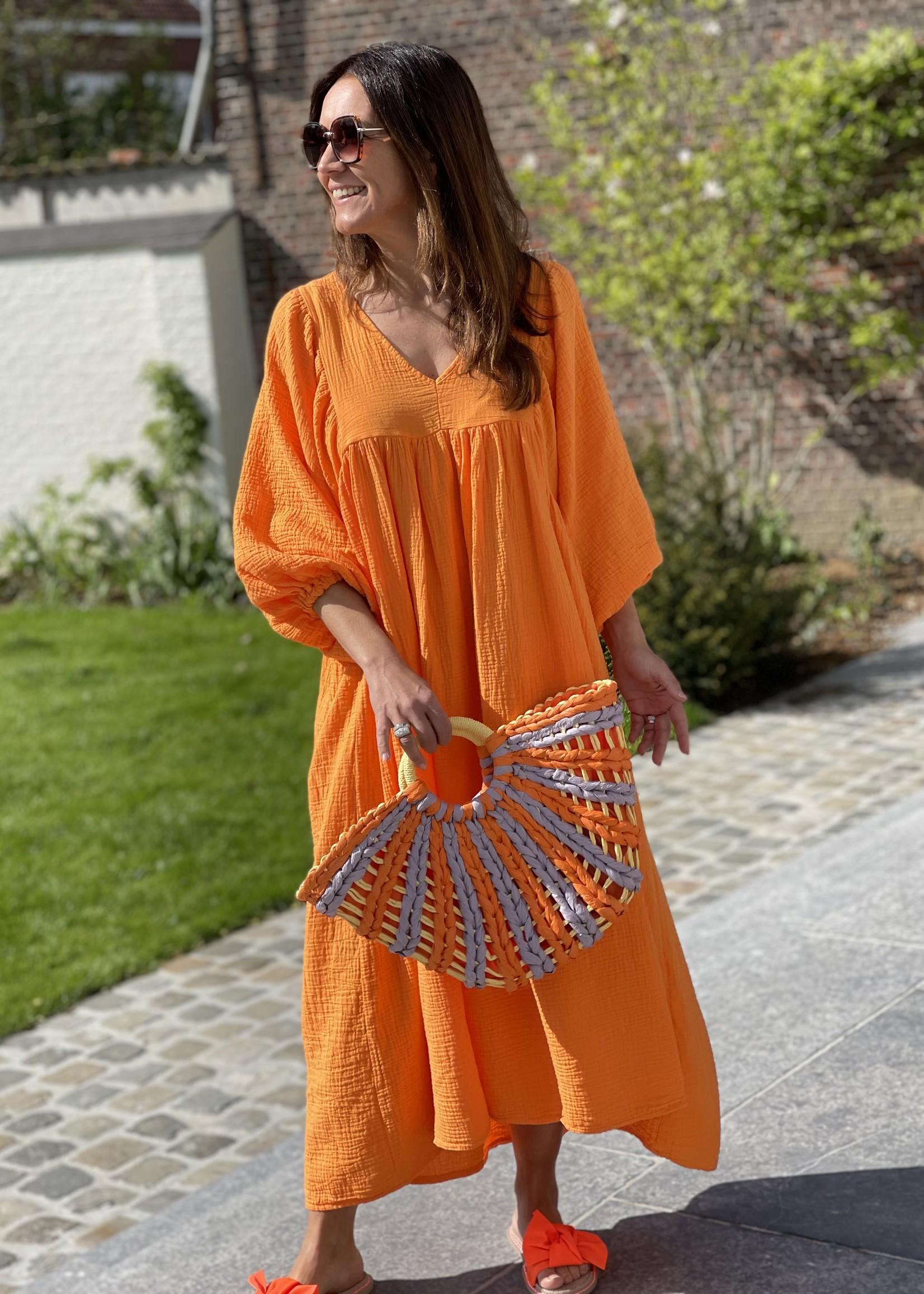 Guts & Goats Louanne Orange Dress