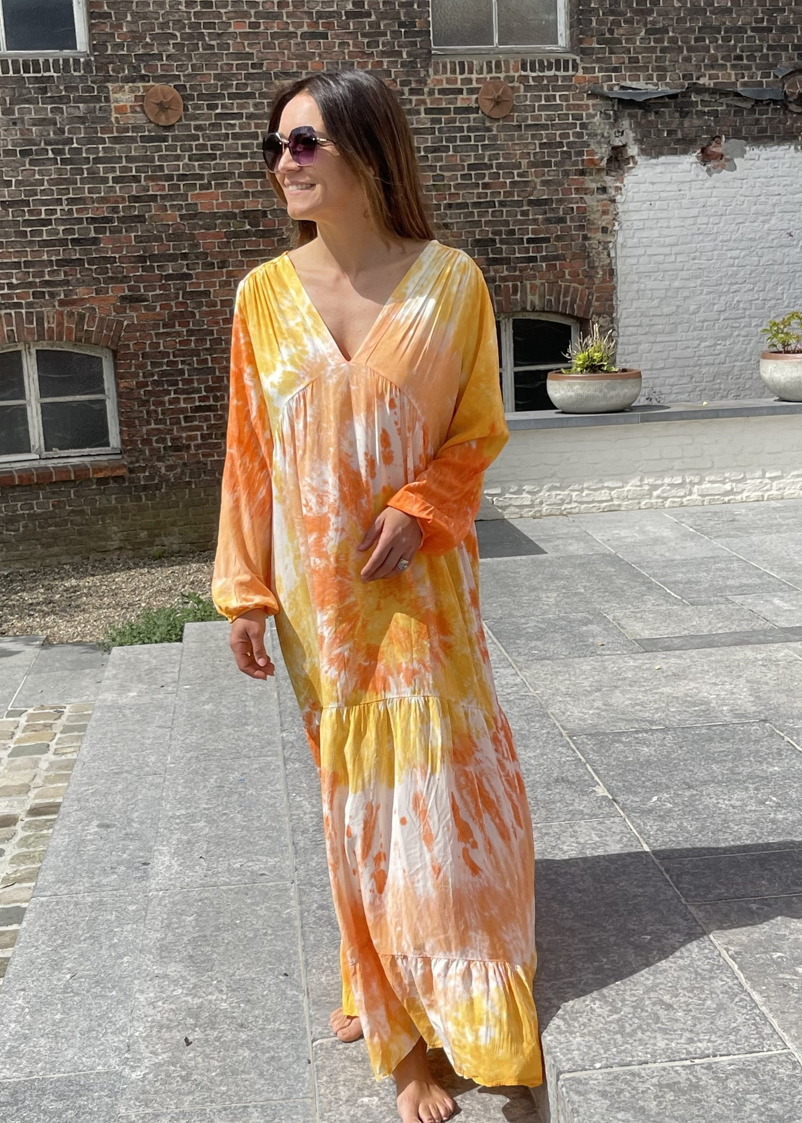 Guts & Goats Ashram Orange Dress