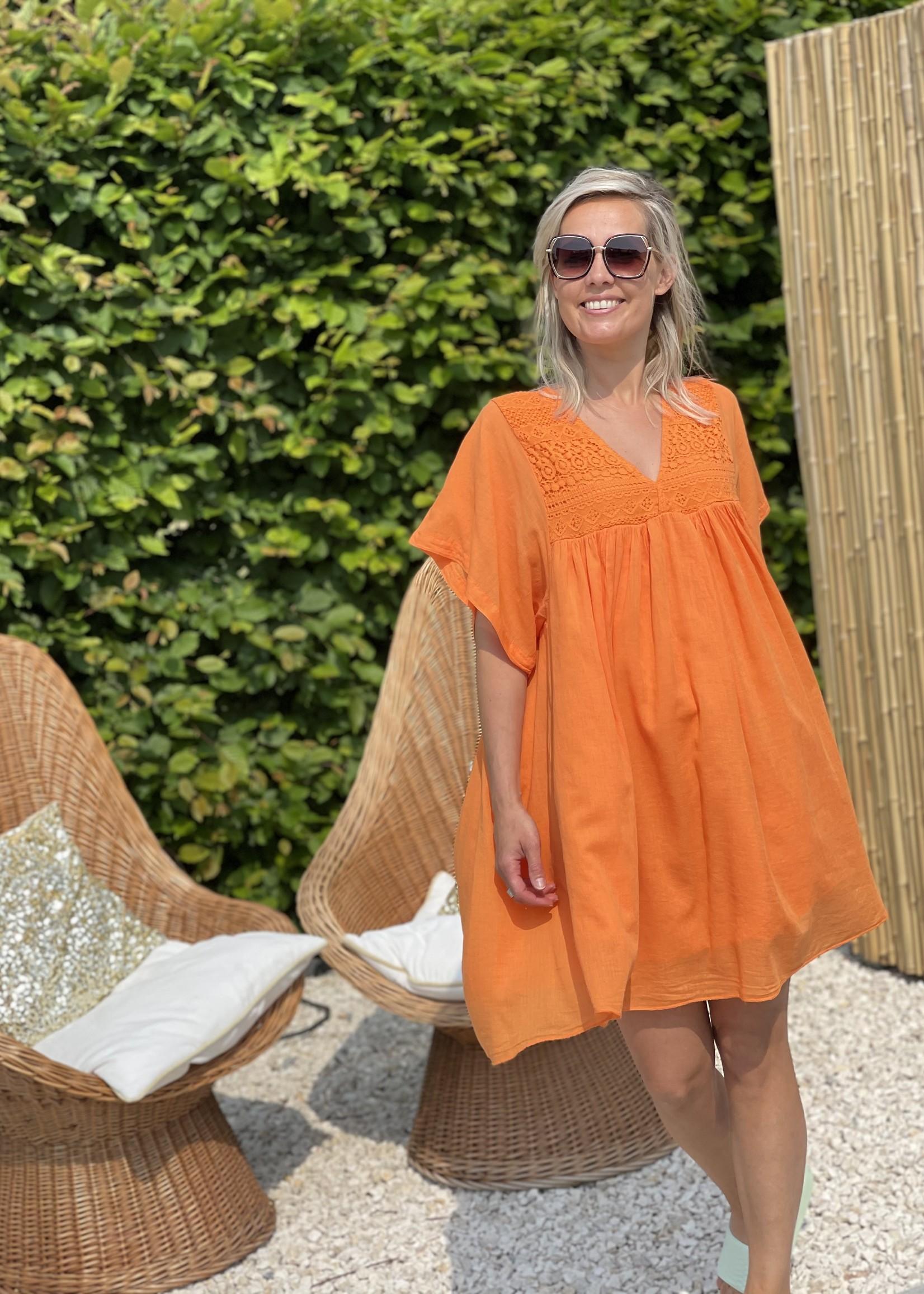 Guts & Goats Everly Orange Dress
