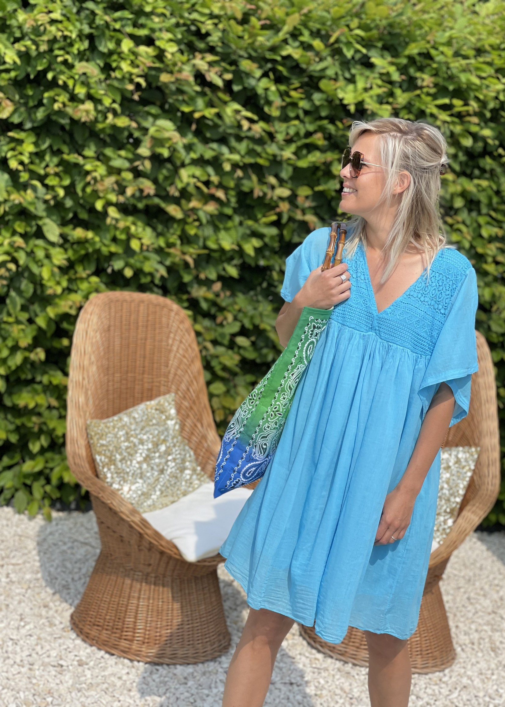 Guts & Goats Everly Turquoise Dress