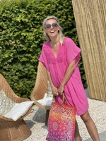 Guts & Goats Everly Fuchsia Dress