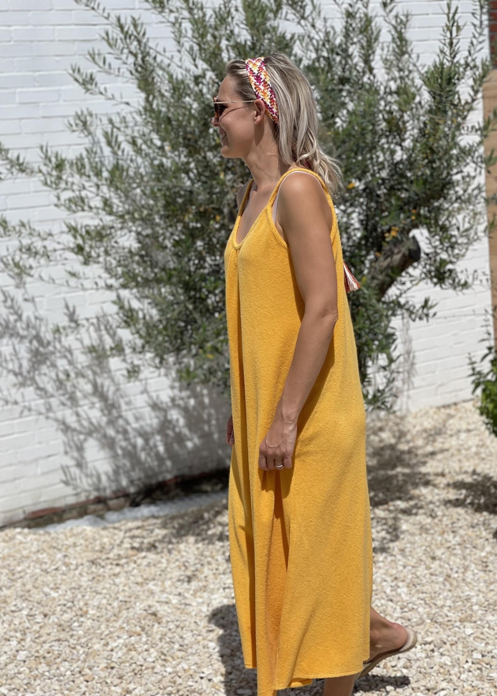 Guts & Goats Sofia Ochre Dress