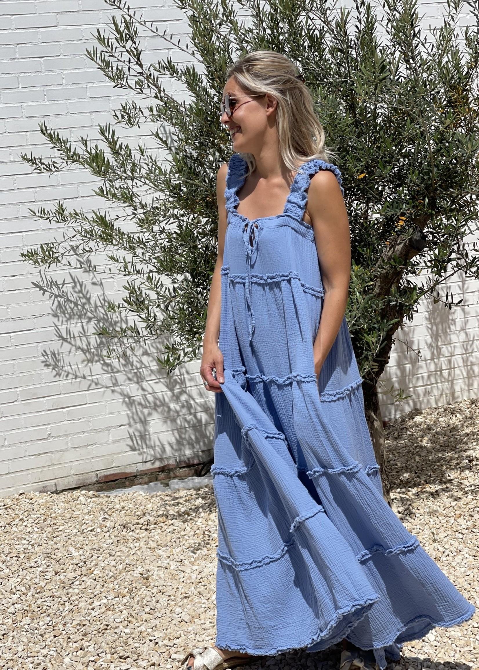 Guts & Goats Willow Blue Dress