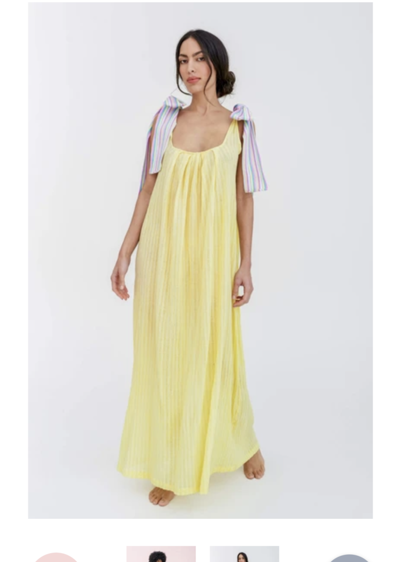 Guts & Goats Bow Maxi Dress Yellow