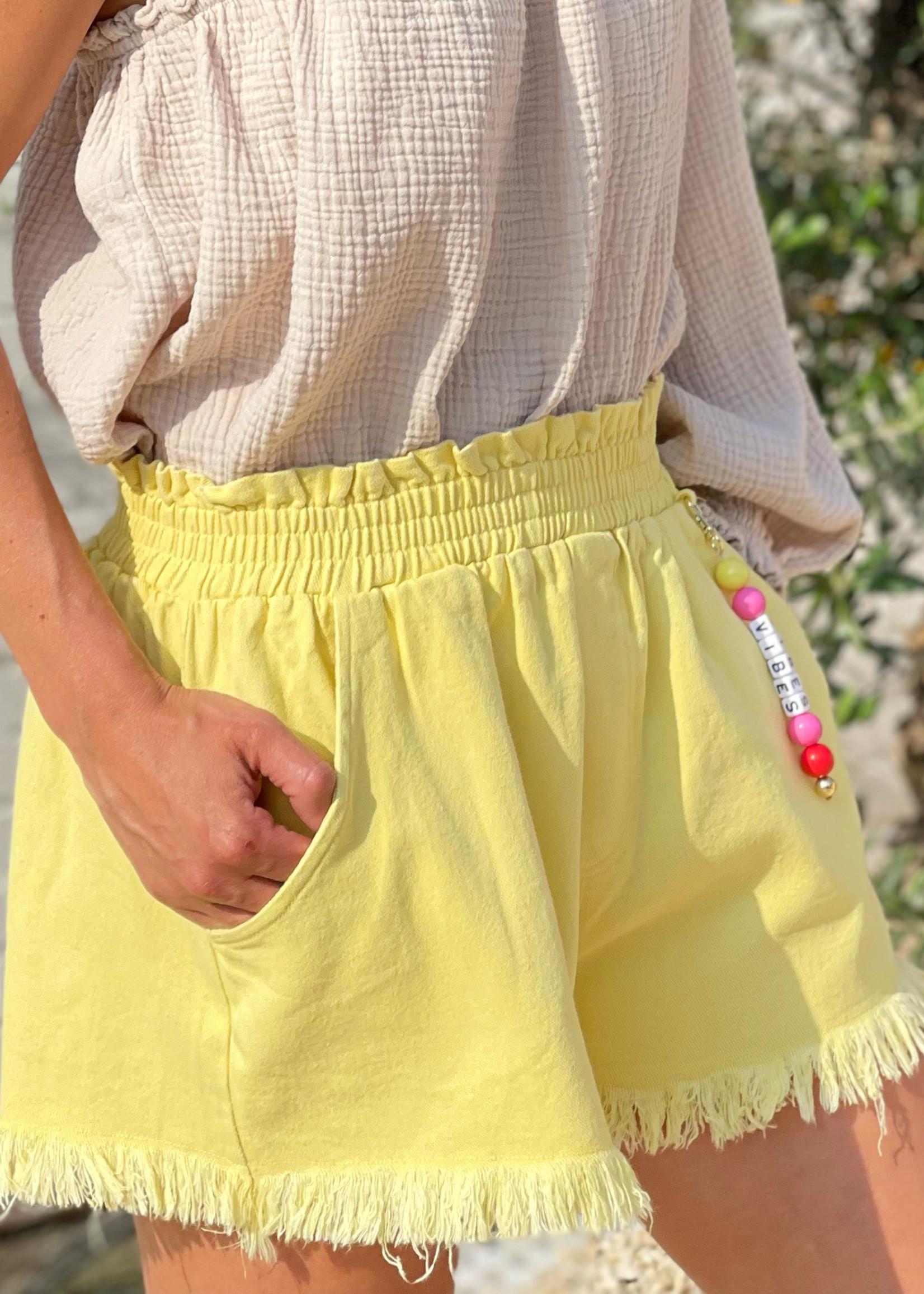 Guts & Goats Mila Yellow Shorts