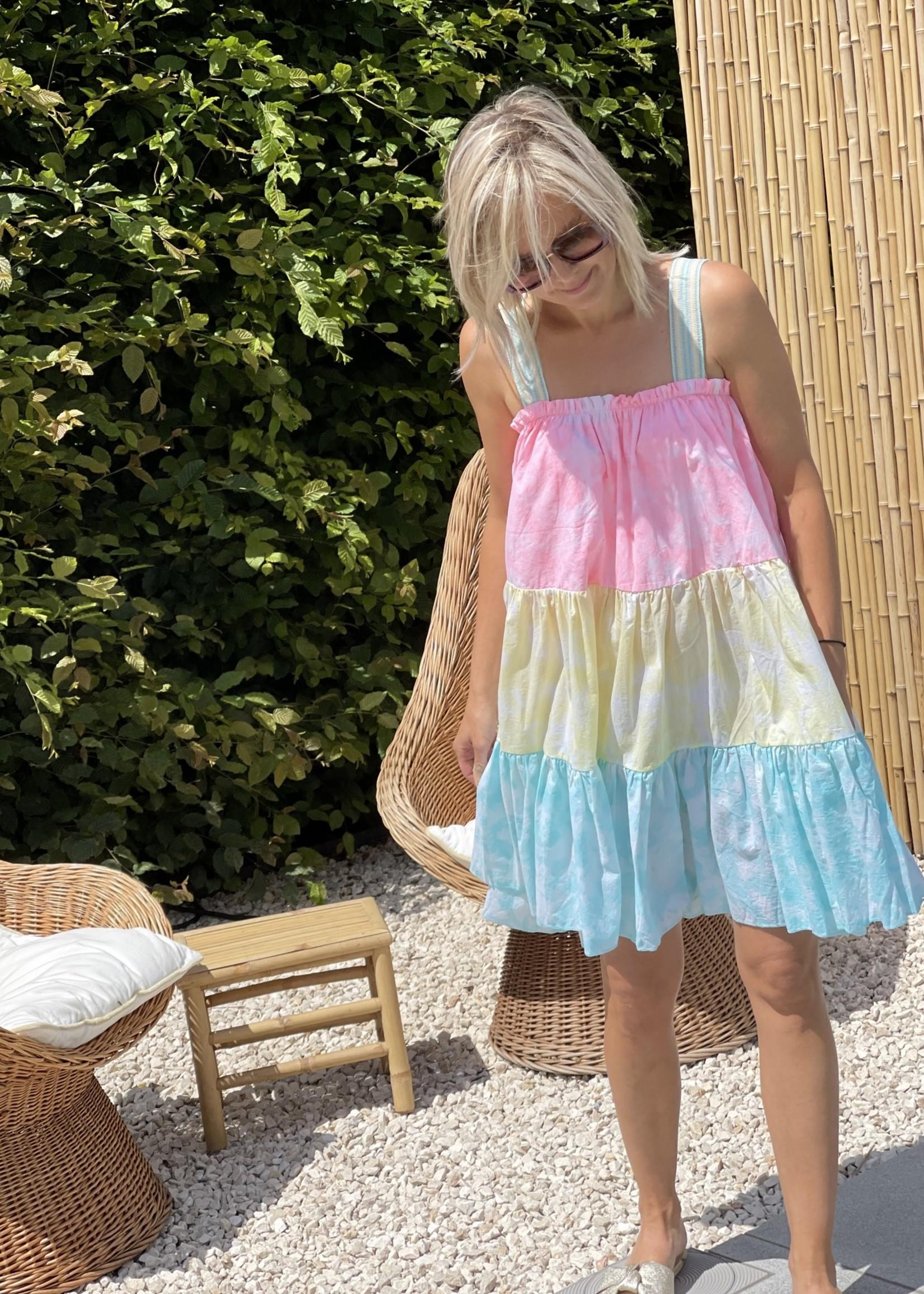 Guts & Goats Lea Tea Dress Tie Dye