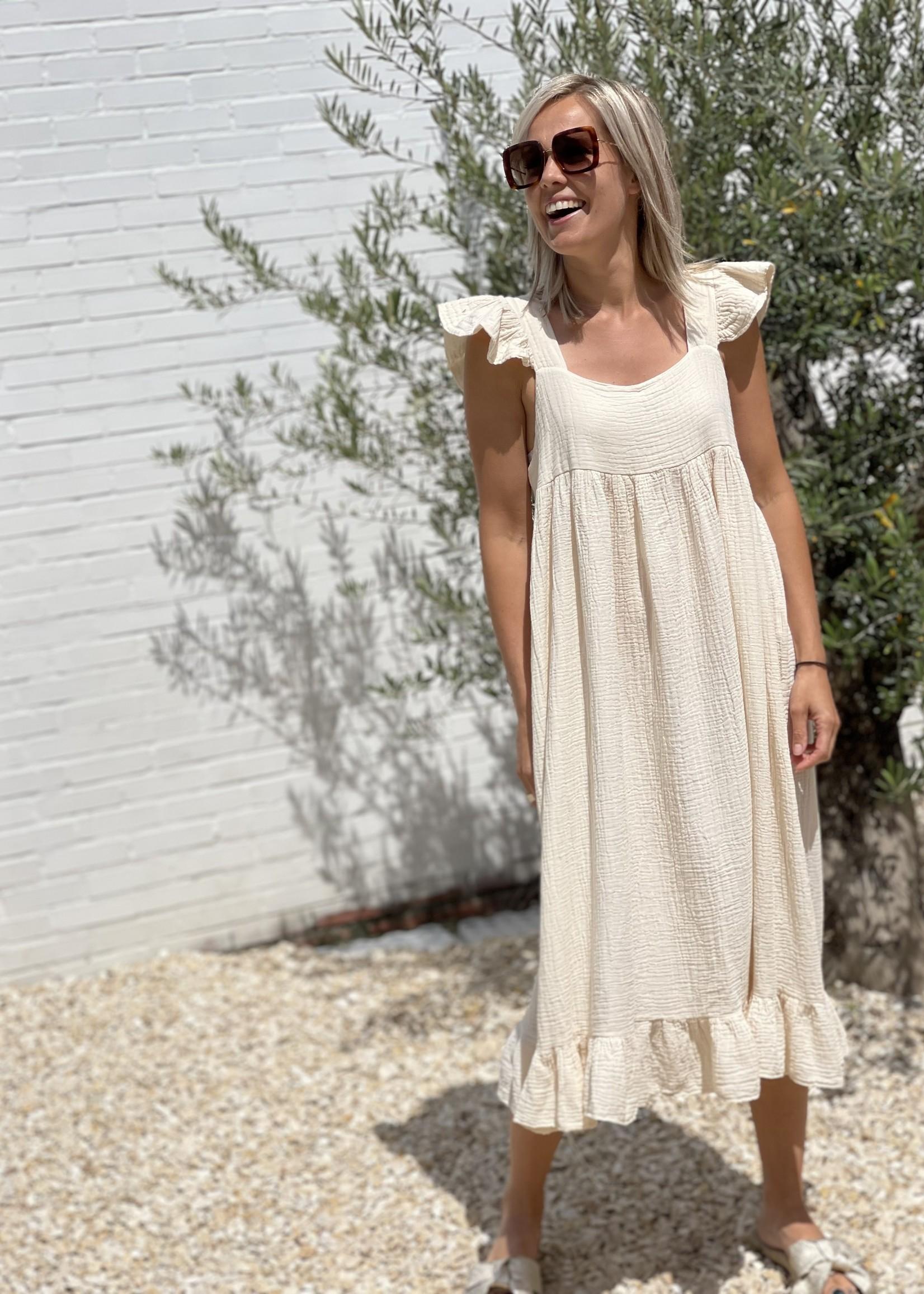 Guts & Goats Scarletta Creme Dress