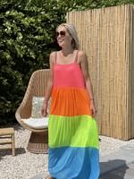 Guts & Goats Rainbow Maxi Dress Brights