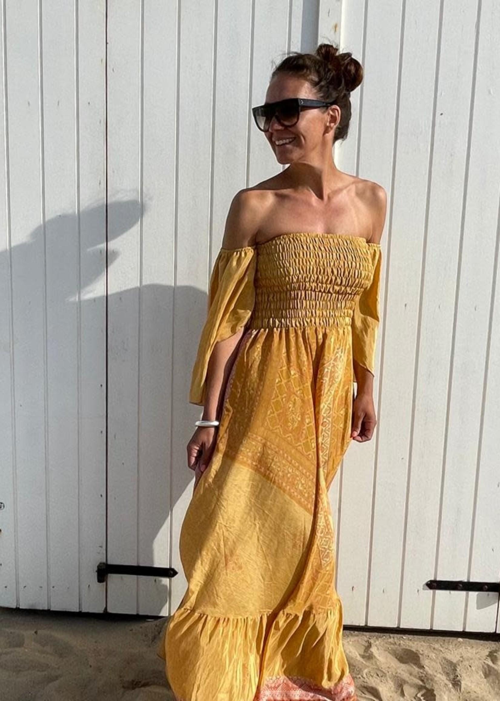 Guts & Goats Unique Ochre Dress