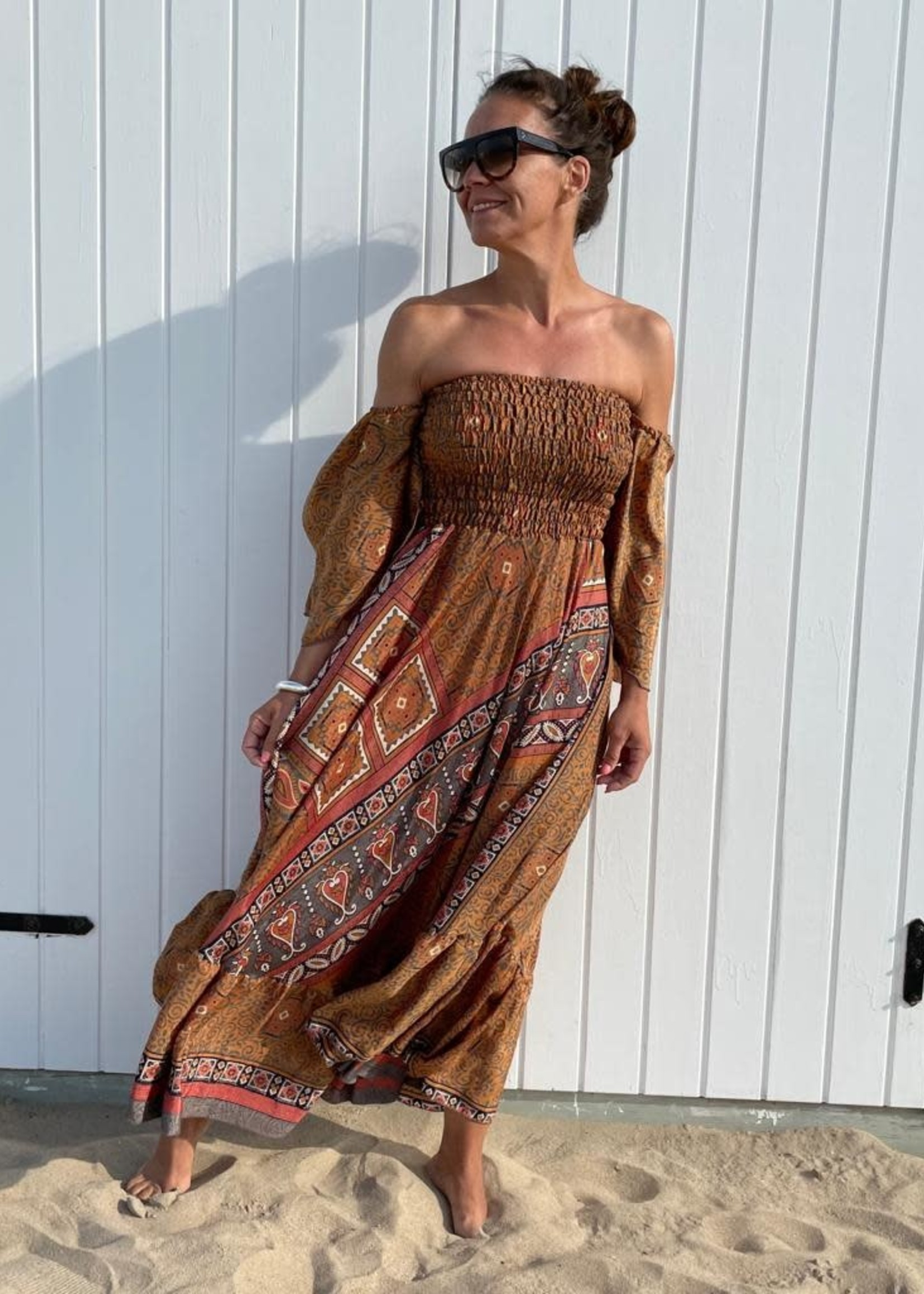 Guts & Goats Unique Brown Dress
