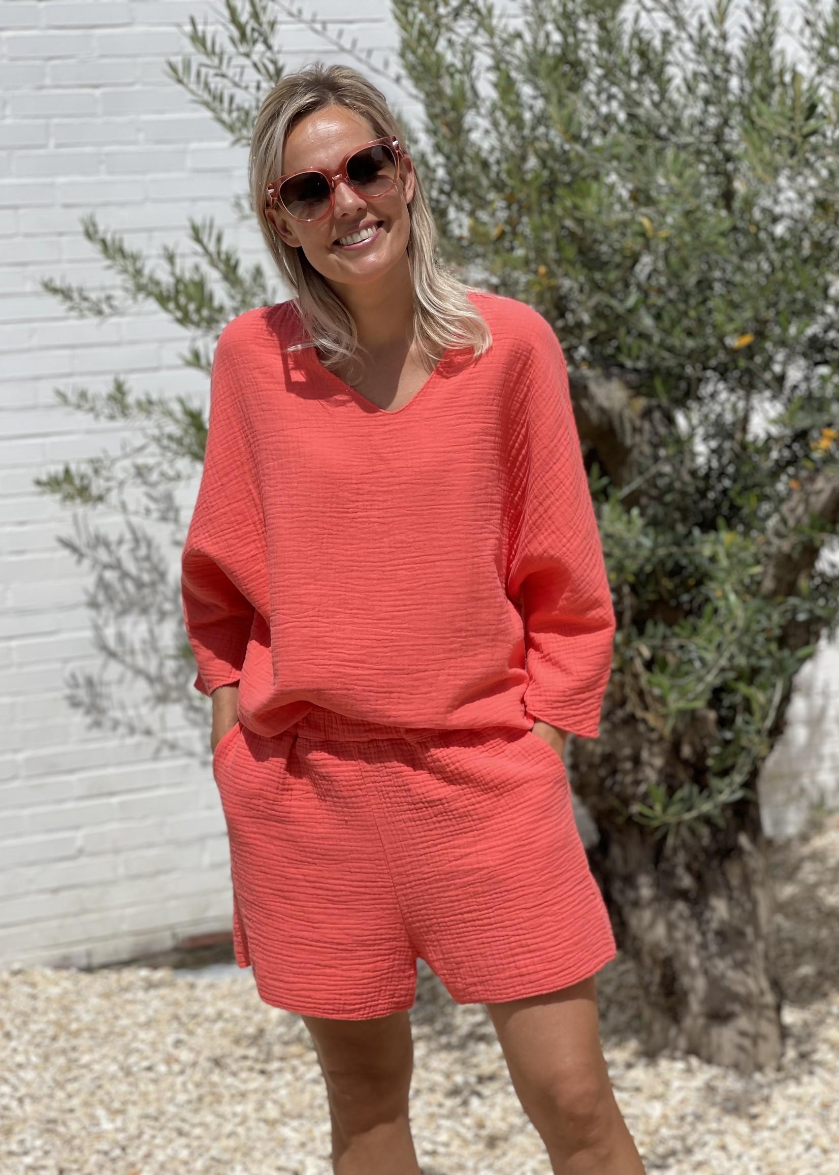 Guts & Goats jersey coral suit