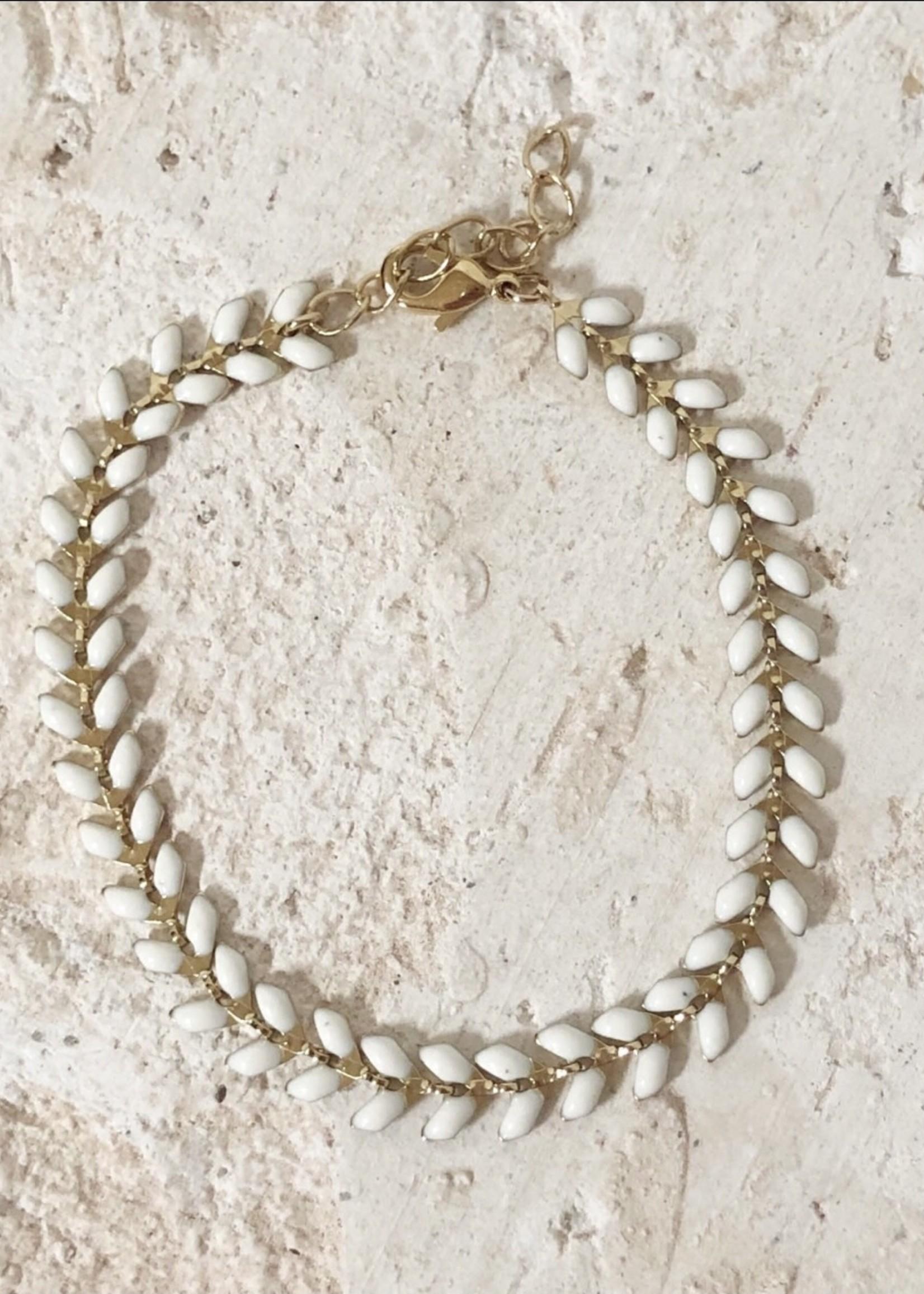 Guts & Goats White Petals Bracelet