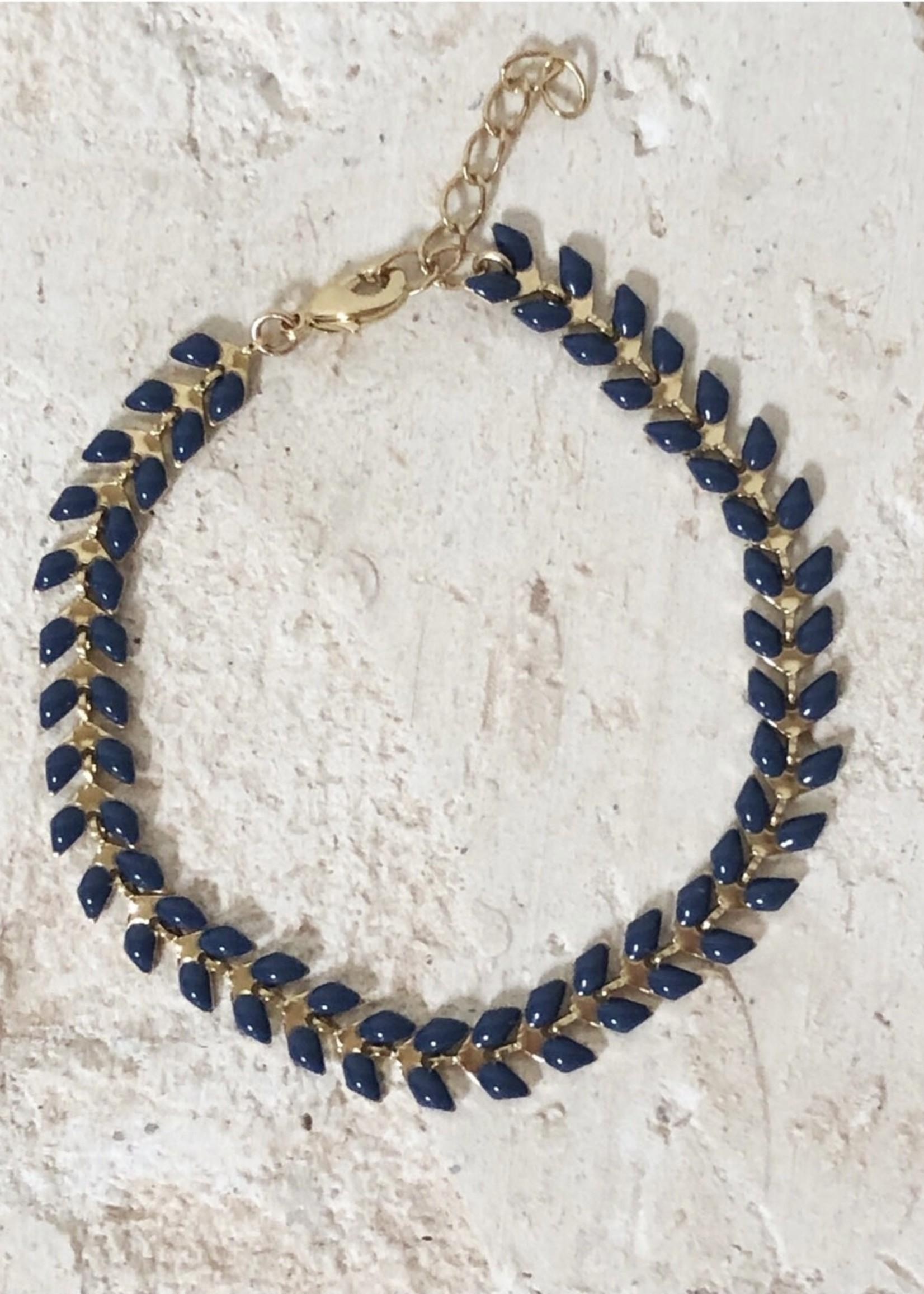 Guts & Goats Blue Petals Bracelet