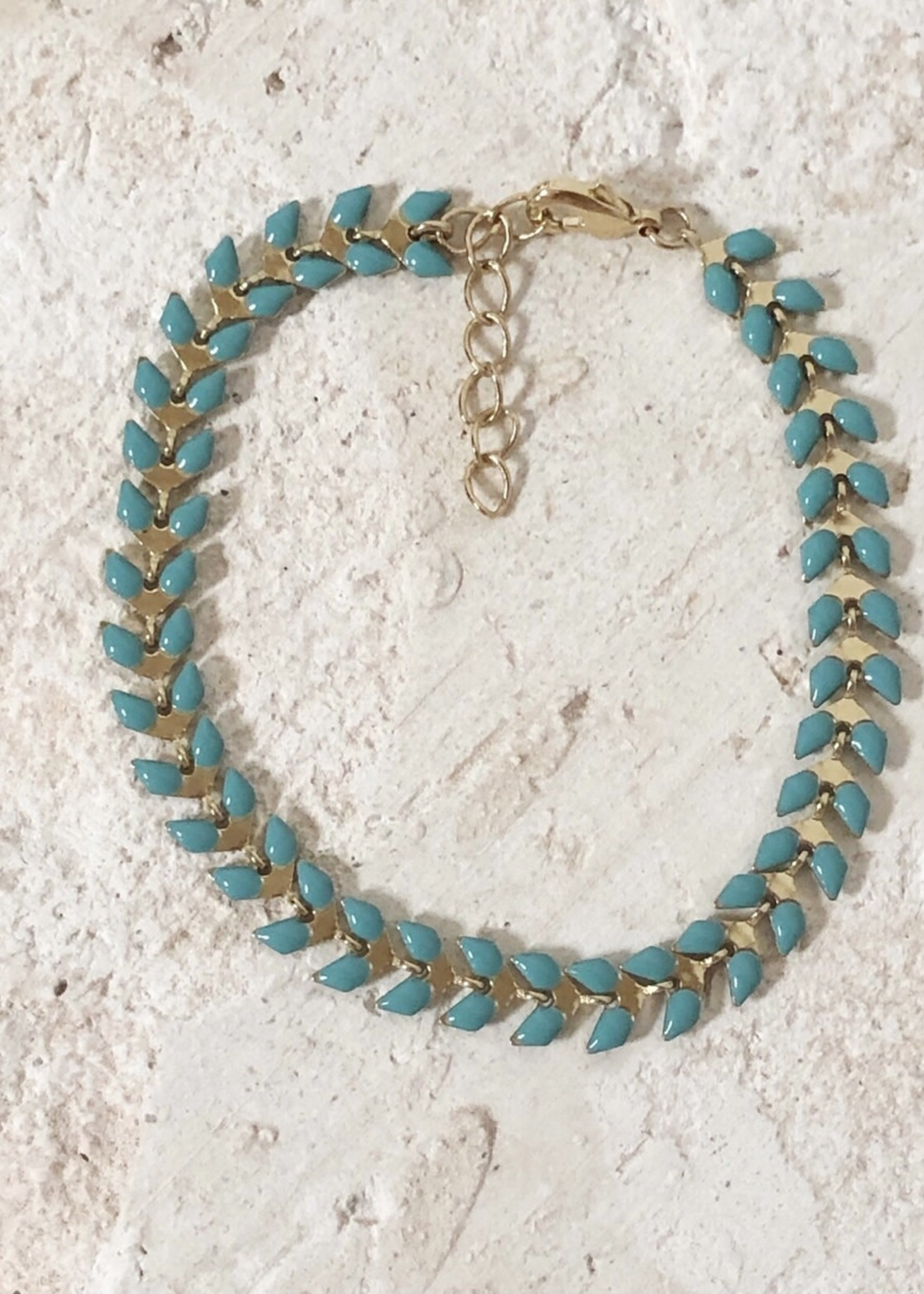 Guts & Goats Turquoise Petals Bracelet