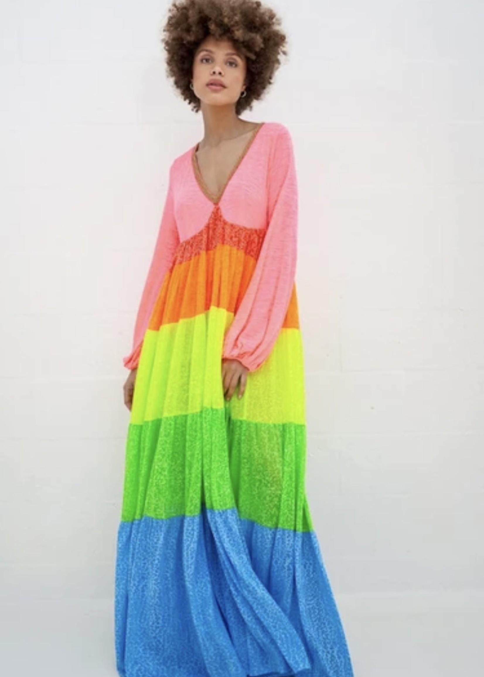 Guts & Goats Rainbow V-neck brights