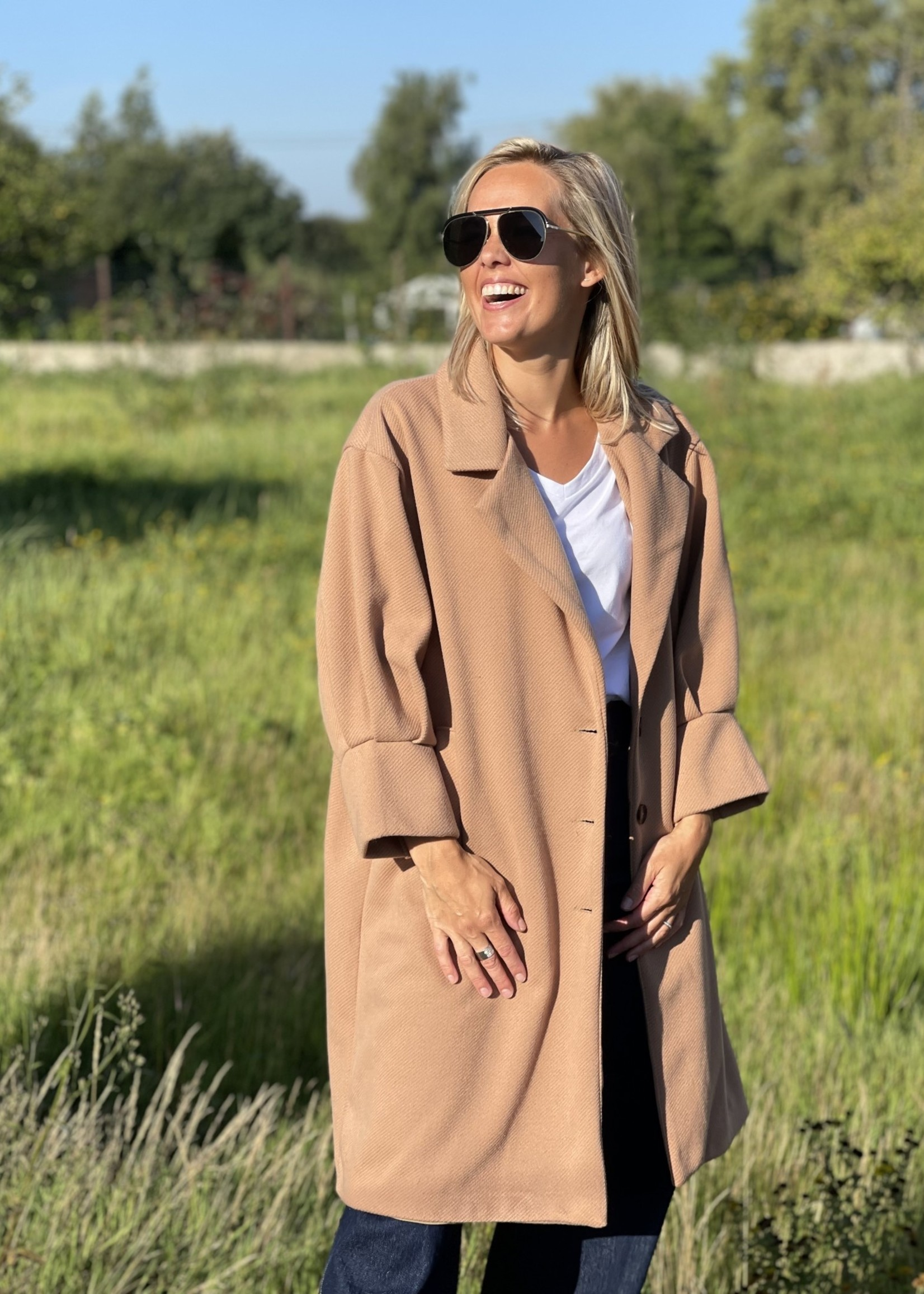 Guts & Goats Francesca Beige Coat