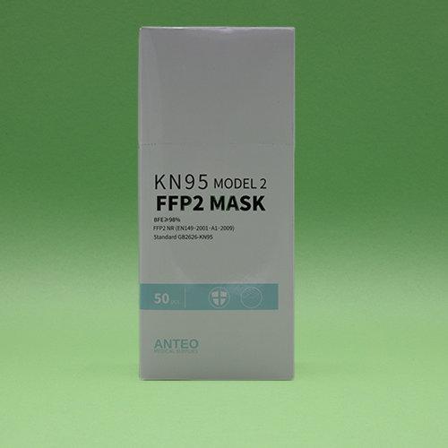 Anteo Medical Supplies Respirator KN95 - FFP2 certified mask, long shaped, model 2