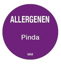 Allergenen etiketten - pinda