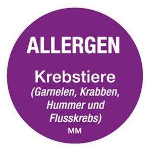 Allergenen etiketten - schaaldieren