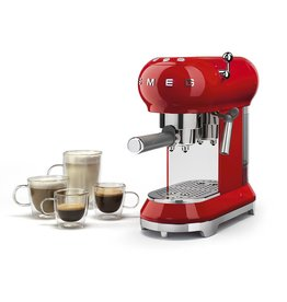 Smeg Smeg Espressomachine - rood