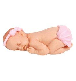 Marsepein Baby meisje (5 stuks)