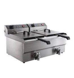 Elektrische friteuse tafelmodel 2 x 8 liter