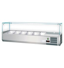 CaterCool CaterCool Opzetkoelvitrine / Saladette 6 x 1/4 GN