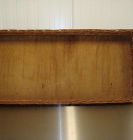 Rieten mand 100 x 48 x 10cm met houten bodem