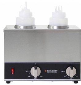 Schneider Sauzen verwarmer 2 flessen