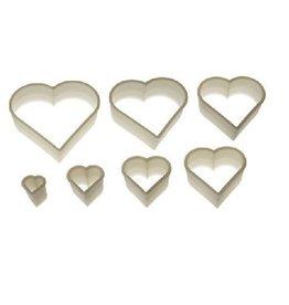 Silikomart Stekerset hart , 7 -delig (glad)