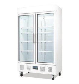 Polar Polar display koeling 945 liter, met wielen