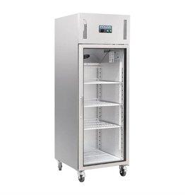 Polar Polar koelkast 600 liter, RVS met glazen deur