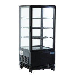 Polar Polar gekoelde vitrine, zwart, 68 liter