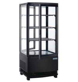 Polar Polar gekoelde vitrine, zwart, 86 liter