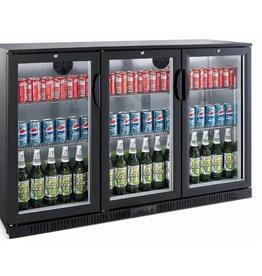 Saro Saro bardisplay 330 liter, drie klapdeuren, zwart