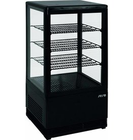 Saro Saro gekoelde vitrine, zwart, 70 liter
