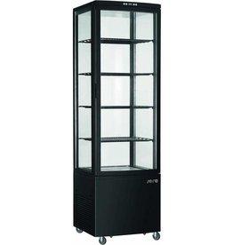 Saro Saro gekoelde vitrine, zwart, 235 liter