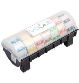 Set dag stickers 2,5 cm, afneembaar inclusief kunststof dispenser