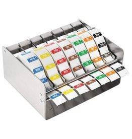 Set dag stickers 2,5 cm, afneembaar, inclusief RVS dispenser