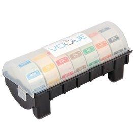 Set dag stickers 2,5 cm, oplosbaar, inclusief kunststof dispenser