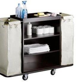 Saro Room service wagen met 2 waszakken