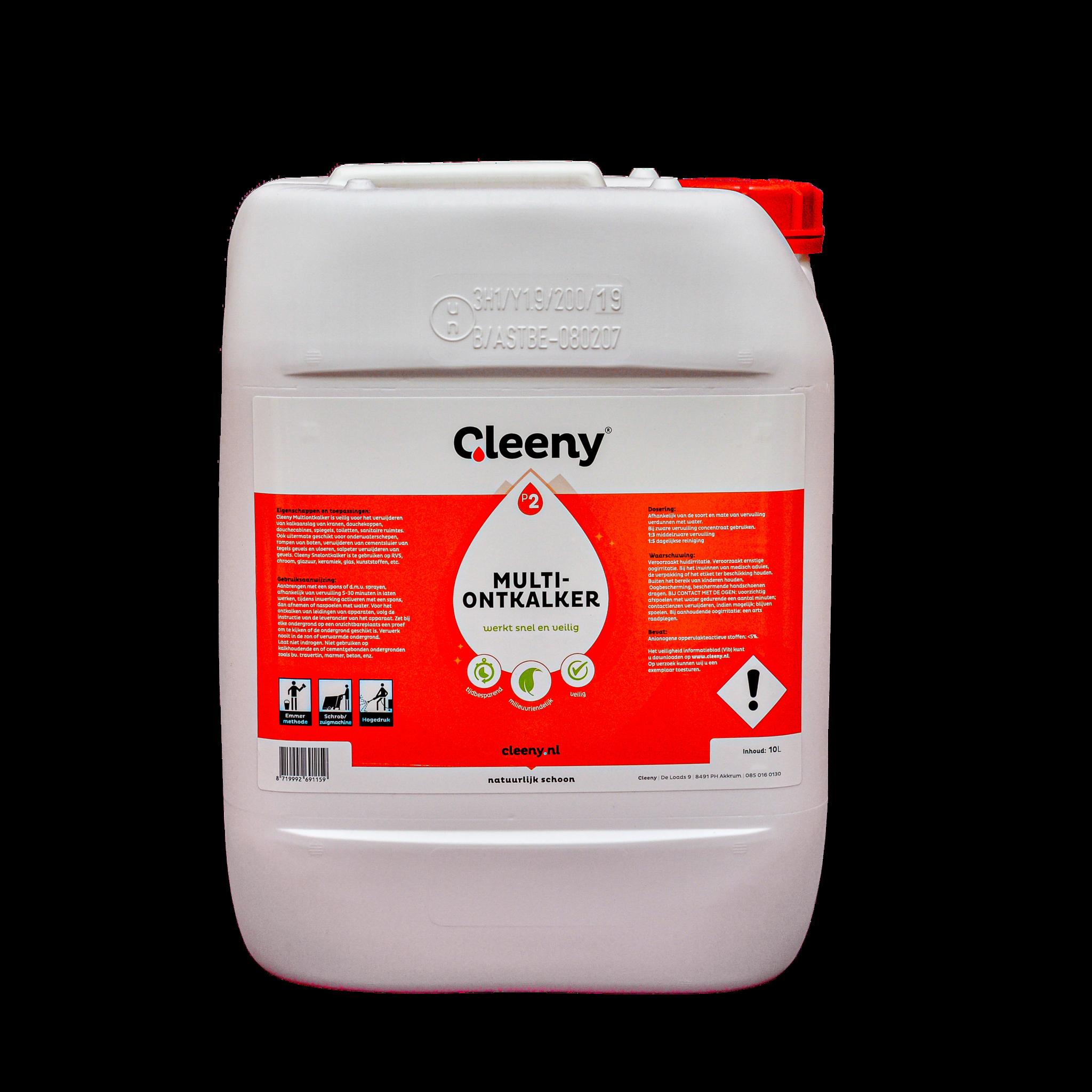 Cleeny P2 Multi ontkalker 10 liter kan concentraat